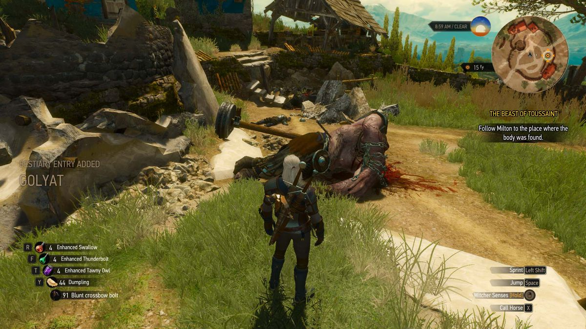 The Witcher 3: Blood and Wine walkthrough: The Beast of