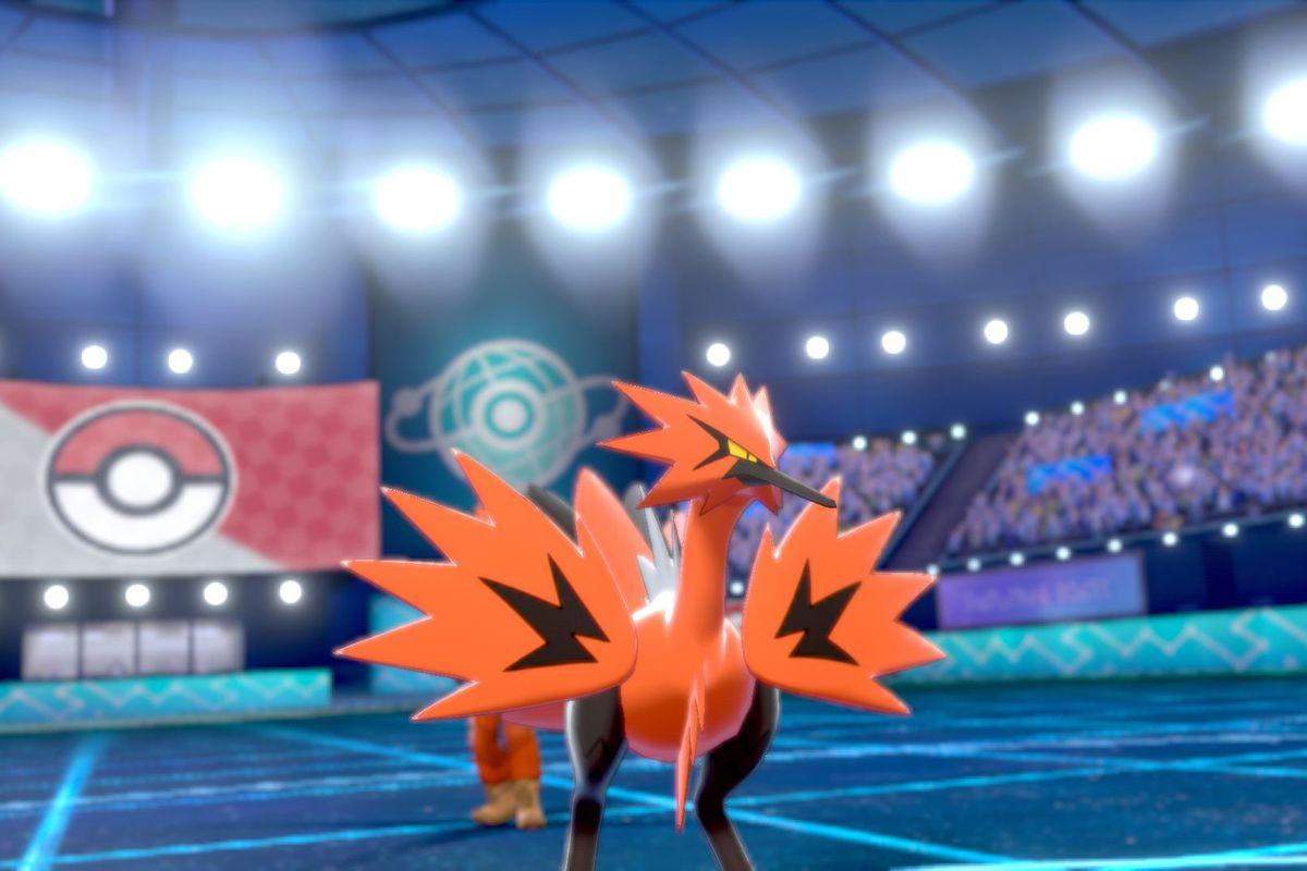 Galarian Zapdos in Pokémon Sword and Shield.