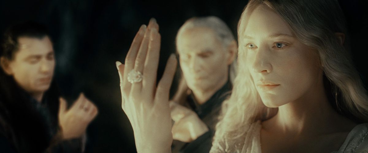 Galadriel displays her ring in The Fellowship of the Ring.