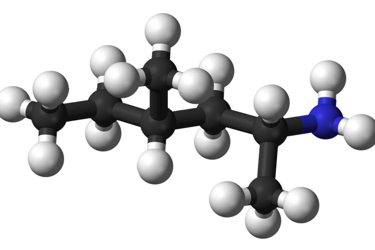 Chemical Structure of Methylhexanamine