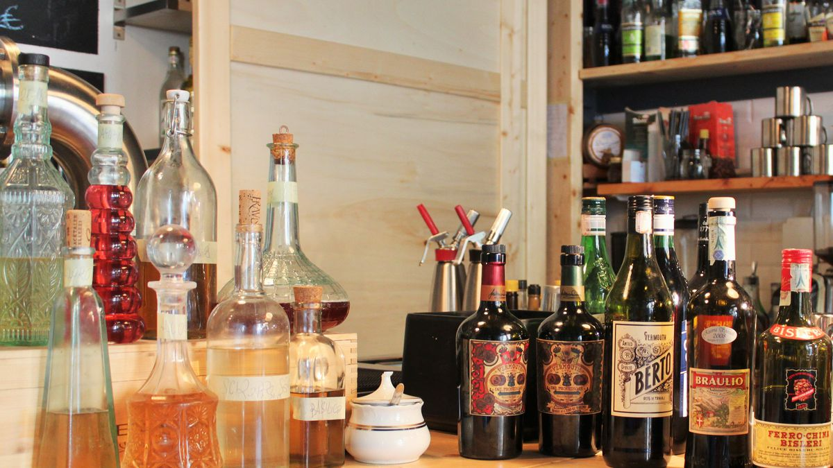 Assorted infusions and bitter liquors at Lo Sverso.
