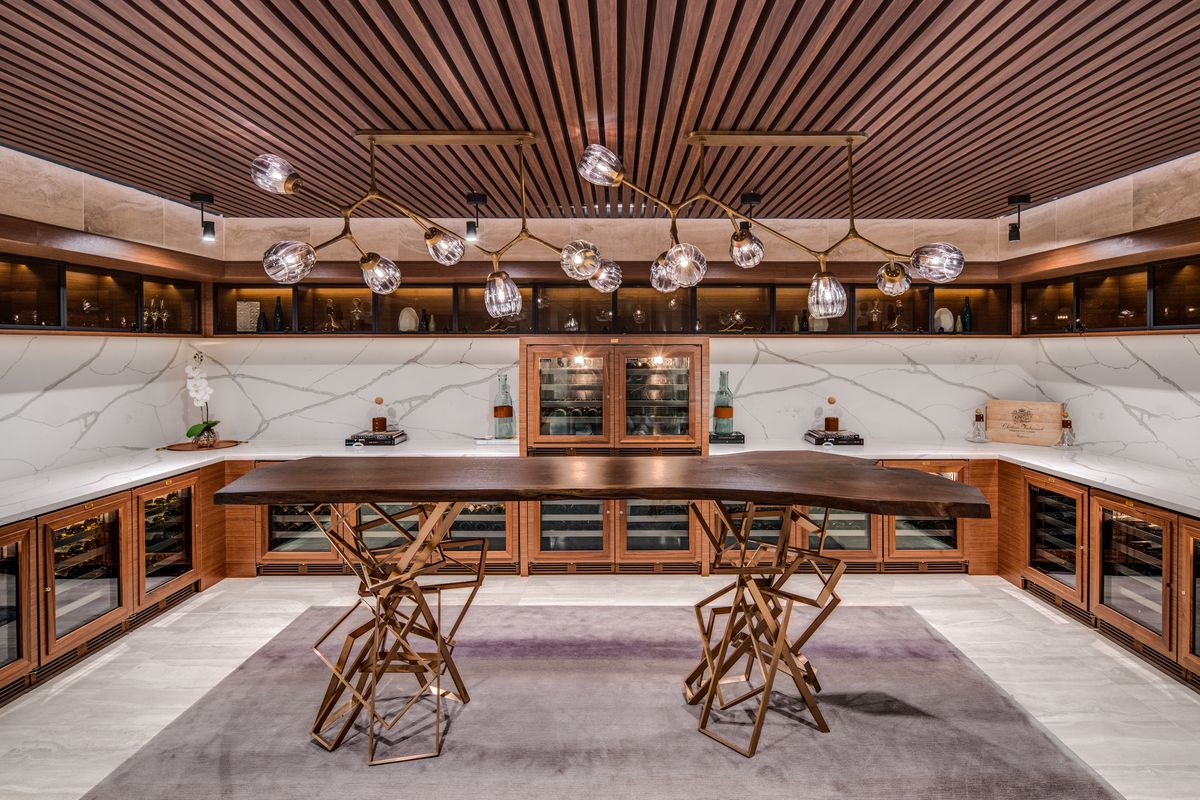 A courtside wine vault at the new Chase Center