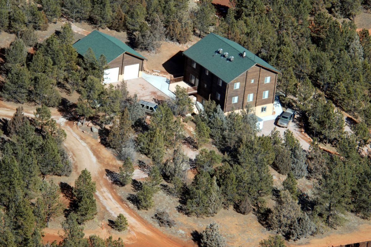 Undated aerial photograph of FLDS compound in South Dakota.
