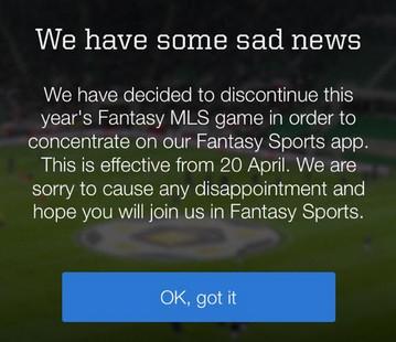 MLS Fantasy Announcement