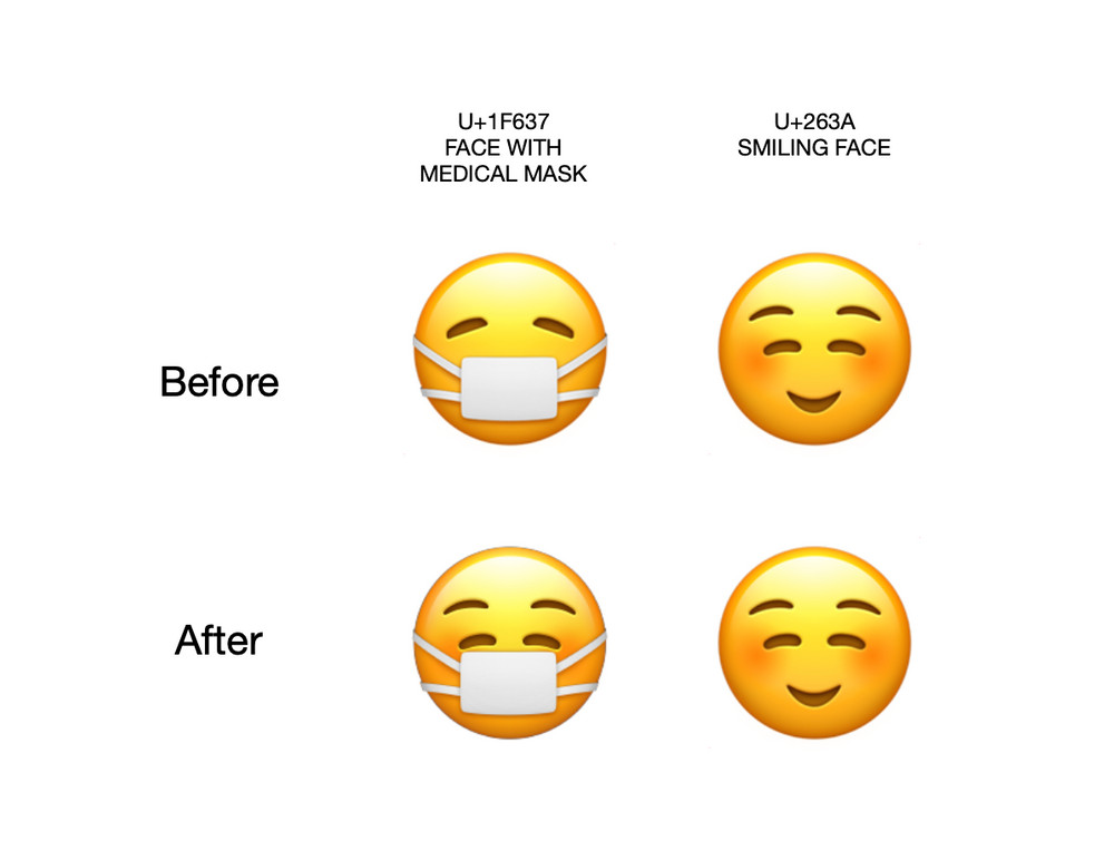 apple smile facemask, <b> Apple just gave the smile emoji its own face mask </b>