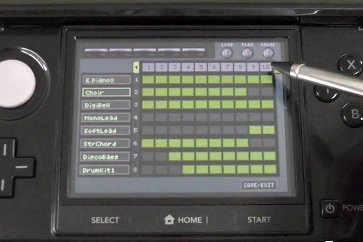 Create music with a virtual Korg M1 synthesizer on the Nintendo 3DS