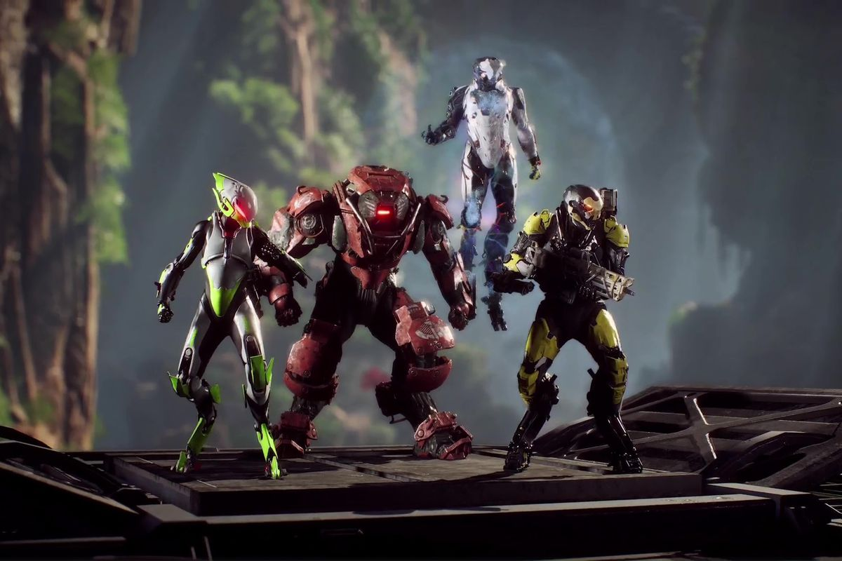 Anthem - four players in javelins