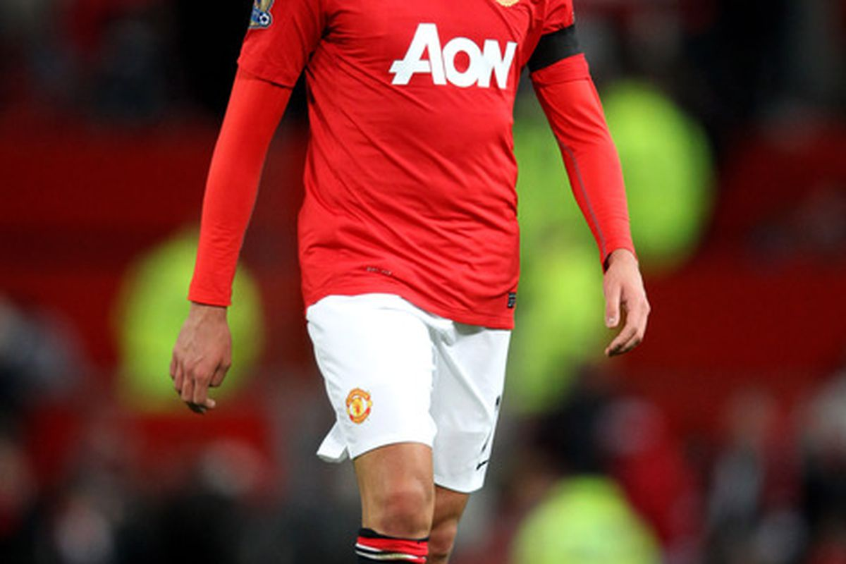 Federico Macheda of Manchester United looks dejected during the Carling Cup Quarter Final match between Manchester United and Crystal Palace at Old Trafford