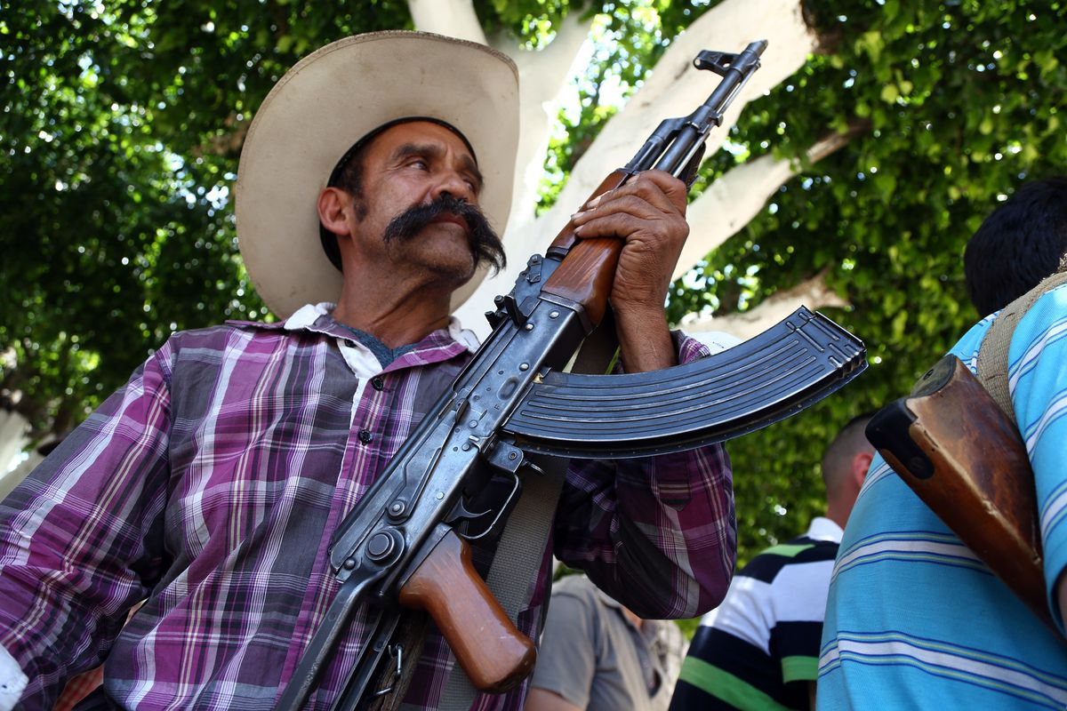 A member of a self-defense group in Mexico.