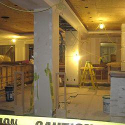 The still-under-construction interior of Edgar Bar & Kitchen.