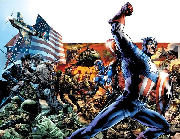 """In this comic book image released by Marvel Comics, Captain America is shown from, """"Captain America Reborn,"""" a five part series from Marvel Comics, available in stores on July 1, 2009."""