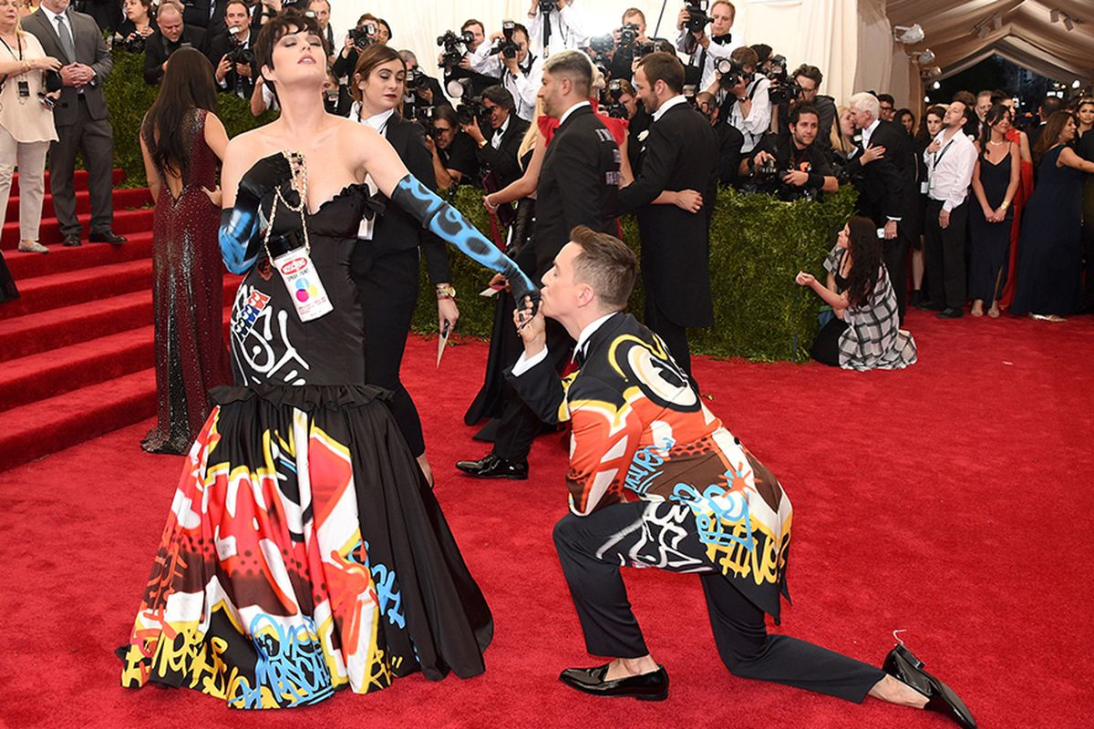 Katy Perry and Jeremy Scott at the Met Gala in May.