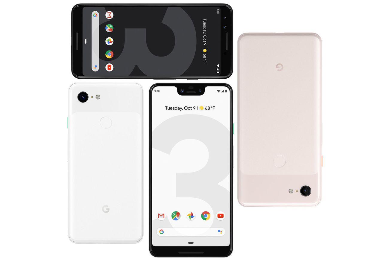 <em>Google Pixel 3 XL and Pixel 3.</em>