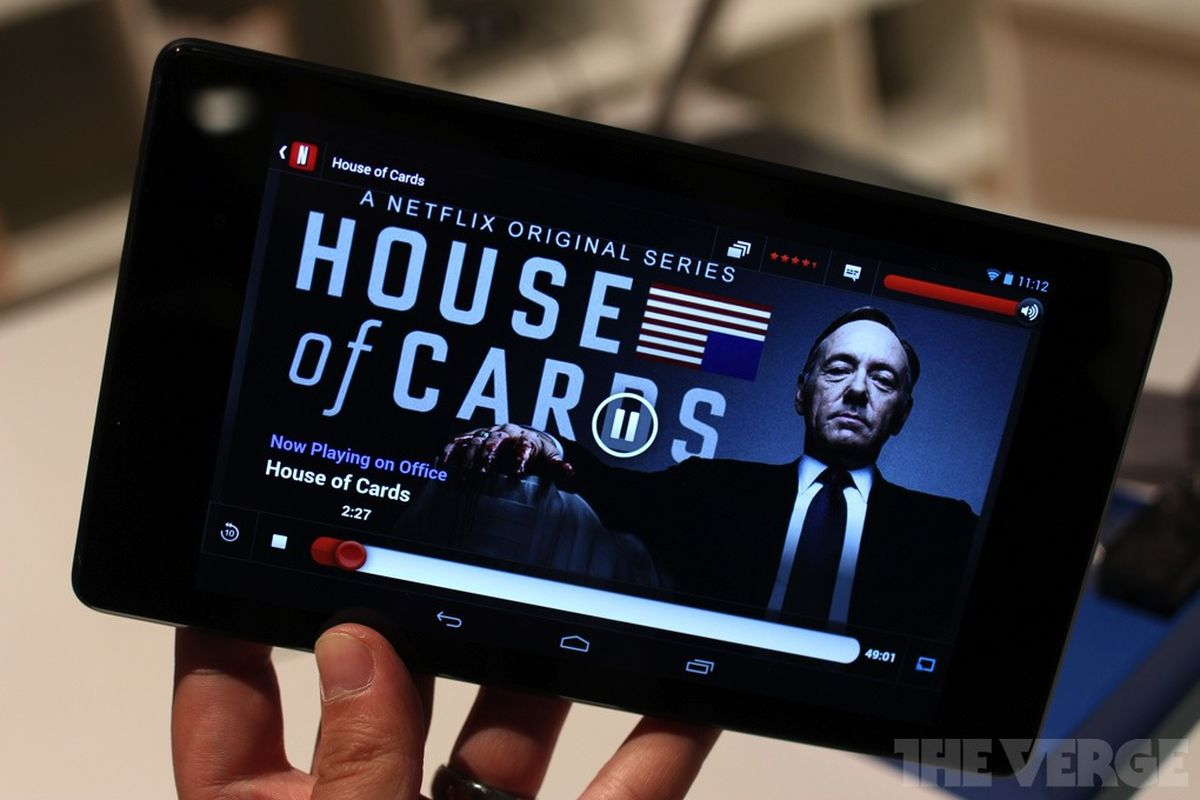 Netflix House of Cards tablet tv second screen stock 1020 1-2