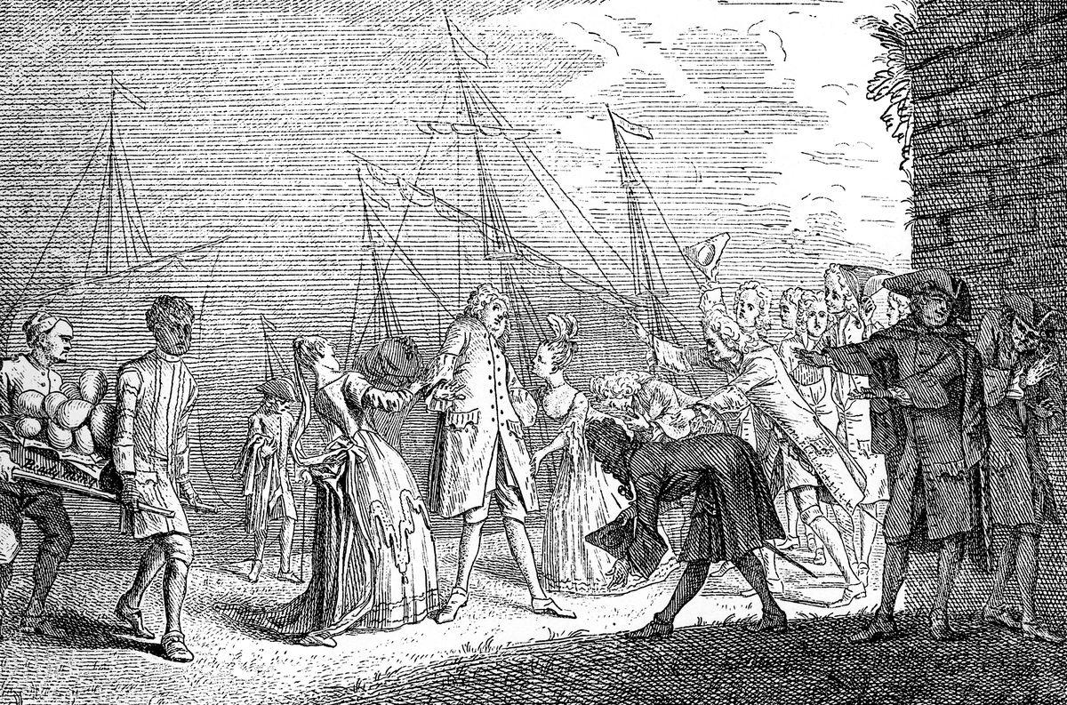 'The Landing of Senesino', 1720.