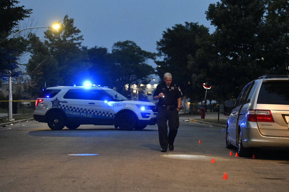 Four people were wounded in a shooting August 7, 2021 on the Near West Side.