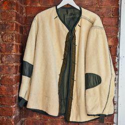 Reversible military liner coat
