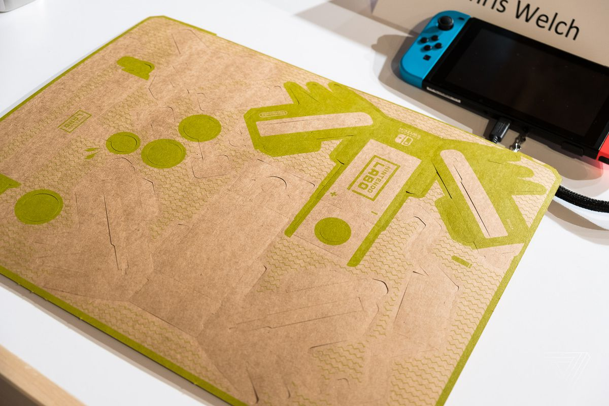 The Nintendo Switch And Labo Make Pieces Of Cardboard Feel Like Rc 2 Way Video Everything Required To Car Is In This Sheet