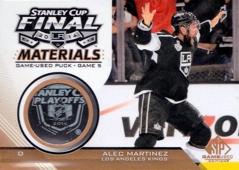 2014-15 SPGU Stanley Cup Finals Game Used Puck SCFGUPAM Martinez