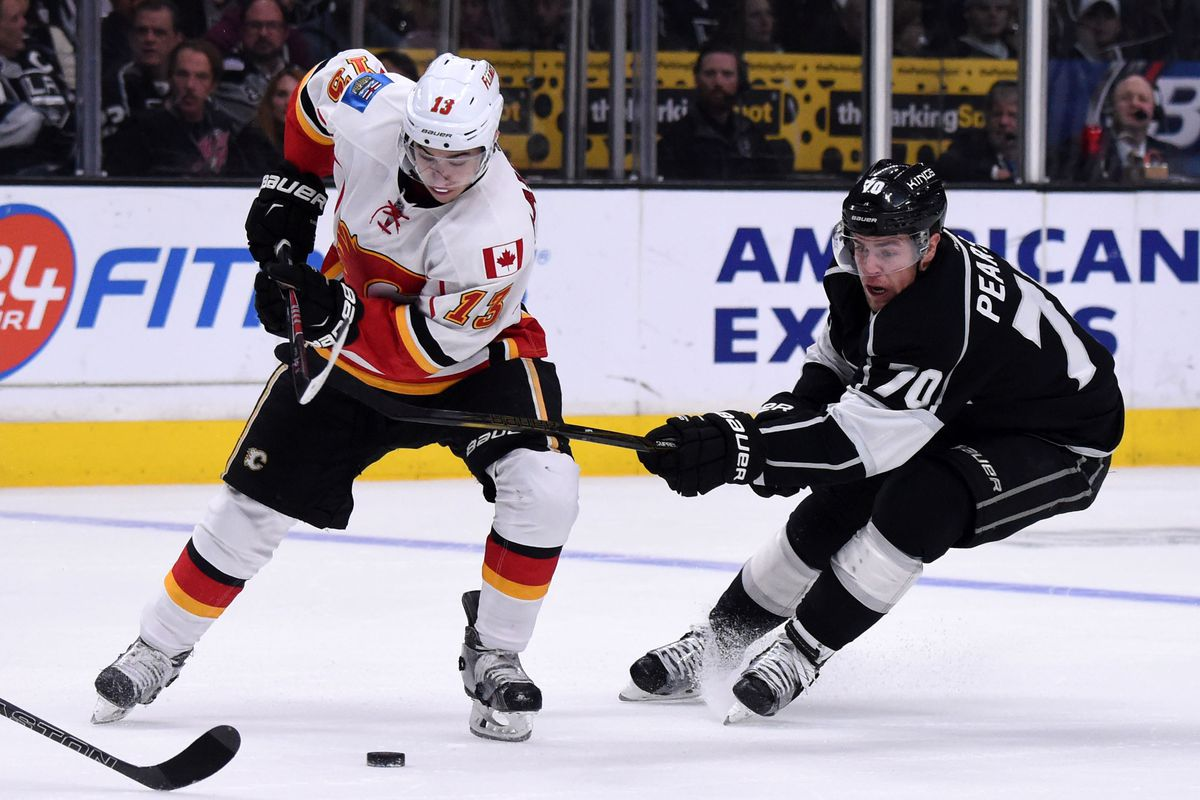 The Kings are gross.  The Flames are playing Grossmann.