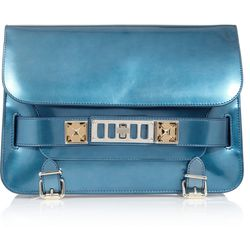 PS11 classic textured leather shoulder bag, $499