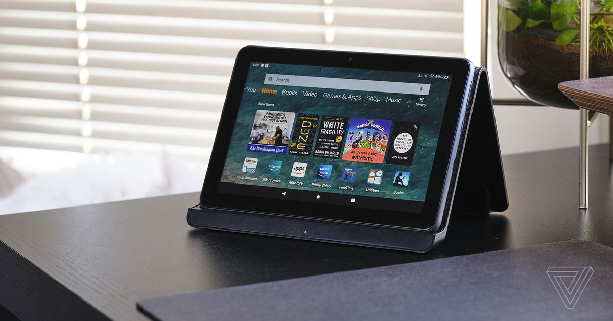 Amazon's new Fire HD Eight tablets are $30 off of their regular value - The Verge thumbnail