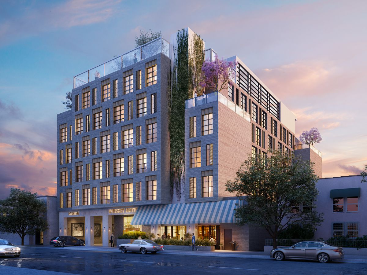 Hollywoods Seven Story Whisky Hotel Slated To Break Ground This Year It Joins A Handful Of Hotels Planned For Wilcox Avenue
