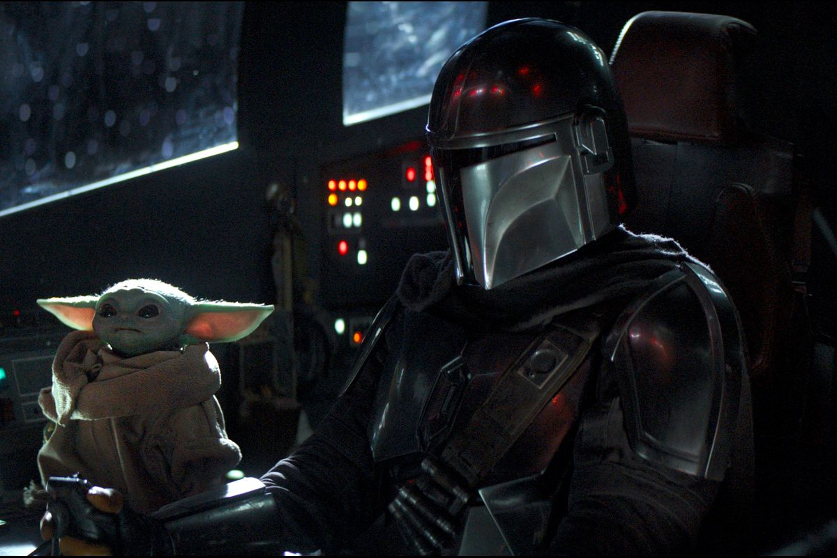 Image result for the mandalorian and baby yoda