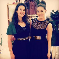 "Gold belt twinsies: Elise Armitage (right) of <a href=""http://www.w-t-fab.com/"">WTFab</a> hosted at FINN, photo via <a href=""http://instagram.com/wtfab1"">@wtfab1</a>"