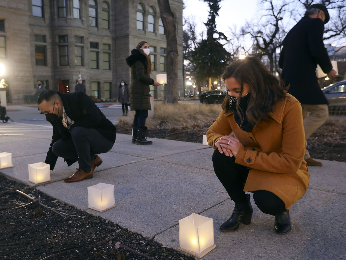'Too many empty seats at our kitchen tables': Salt Lake City joins national day of mourning for COVID-19 victims