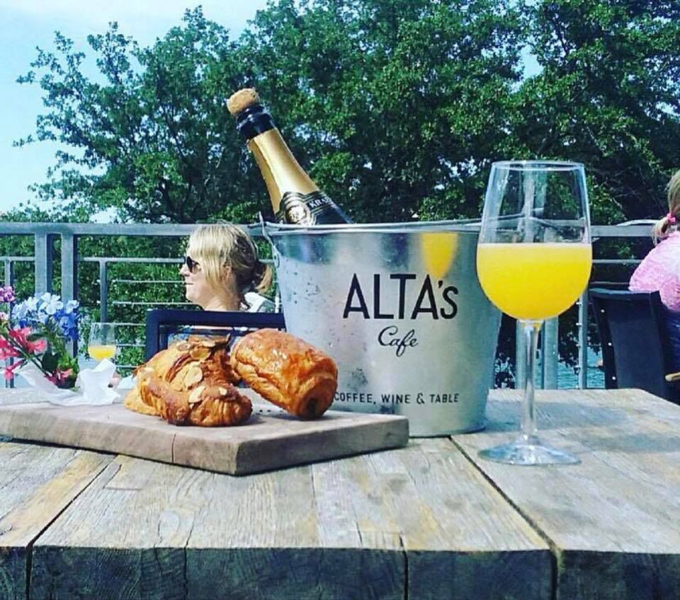 Pastries and mimosas at Alta's