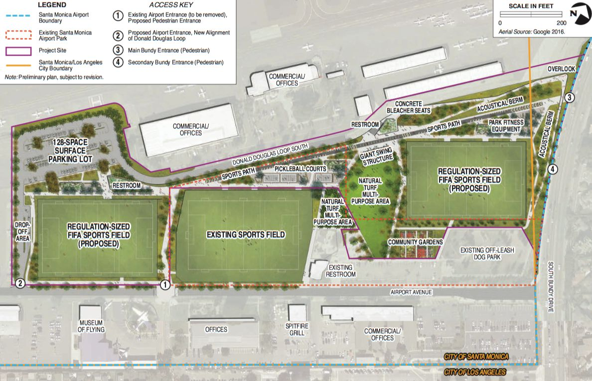 Plans for new airport park in Santa Monica