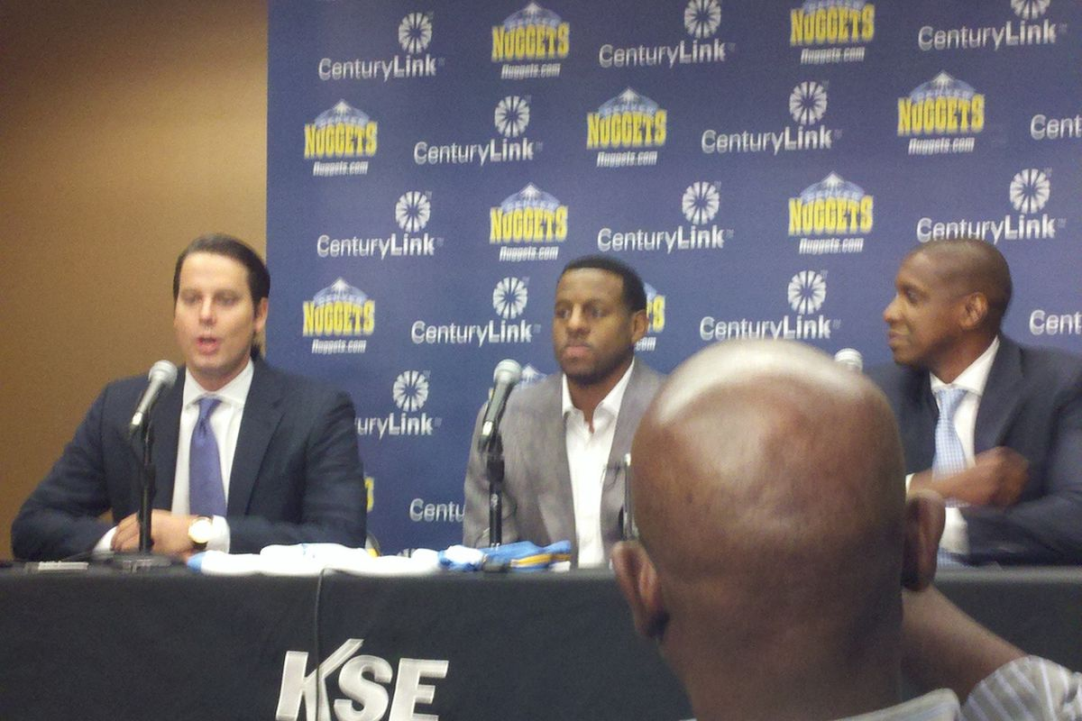 Andre Iguodala didn't keep the serious face for long.