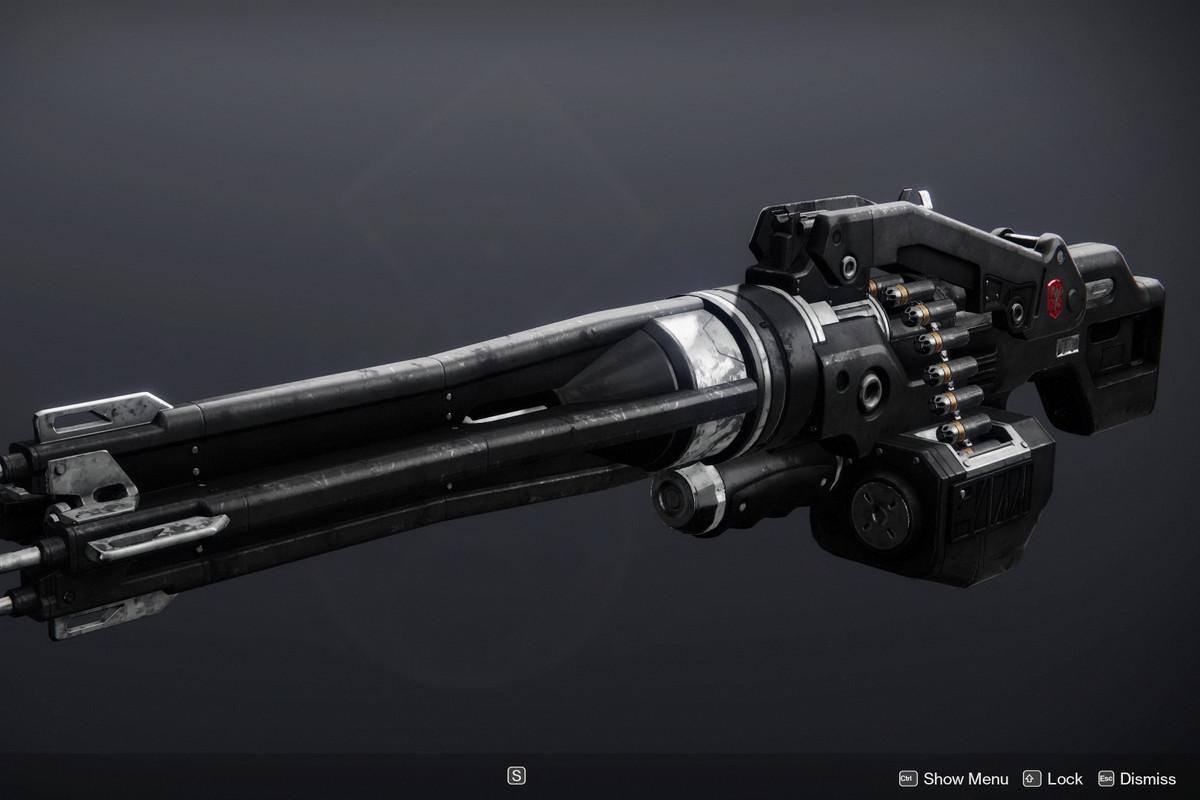 The Heir Apparent Exotic machine gun in Destiny 2
