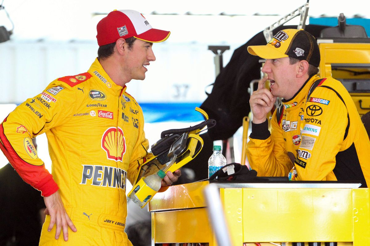 Kyle Busch Joey Logano Not Penalized By Nascar For Las