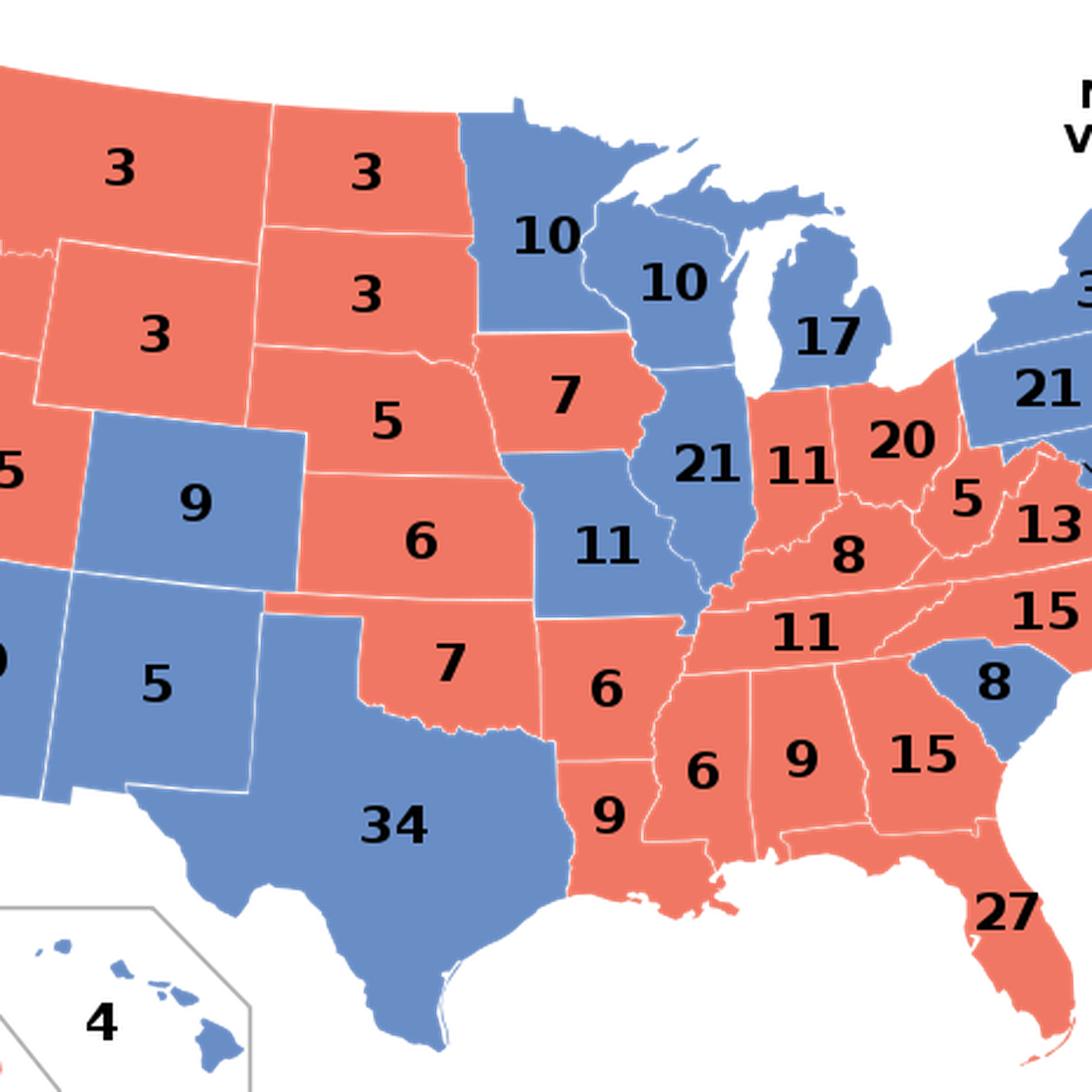 Map Of Us Showing Electoral Votes The West Wing's Electoral College maps are incredibly weird   Vox