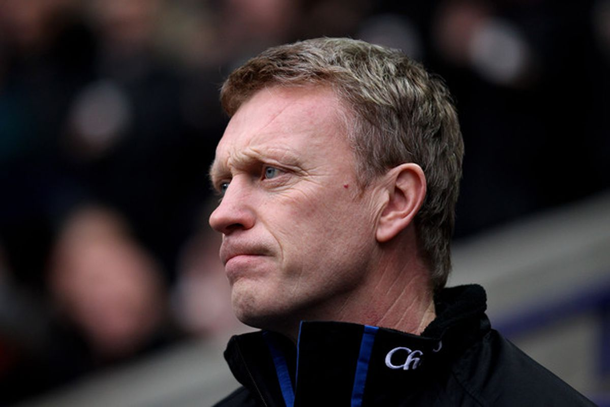 What David Moyes' face may have been last night. But what is he pondering?