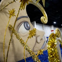 A float by the city of Bluffdale is pictured during the Days of '47 Float Preview Party at the Mountain America Expo Center in Sandy on Tuesday, July 20, 2021.