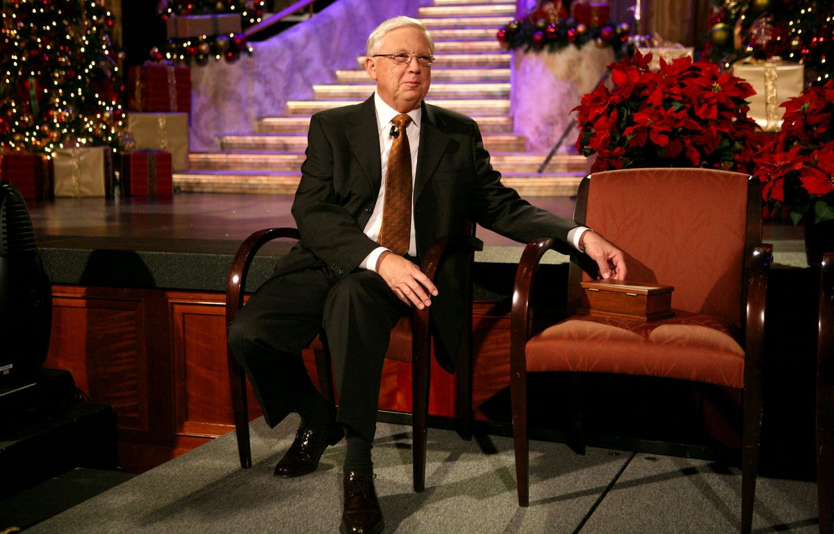 Former Tabernacle Choir President Ron Jarrett attends a news conference about the Tabernacle Choir Christmas concert.
