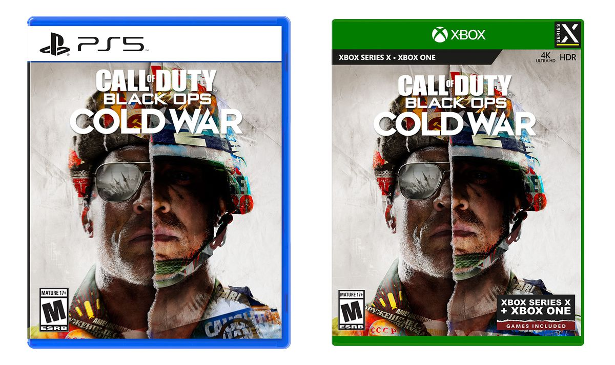 Artwork of the PS5 and Xbox Series X physical versions of Call of Duty: Black Ops Cold War
