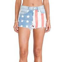 """Lovers + Friends Americana cut-off shorts, <a href=""""http://www.revolveclothing.com/lovers-friends-americana-cut-off-shorts-in-denim/dp/LOVF-WN5/"""">$168</a> at Revolve Clothing"""