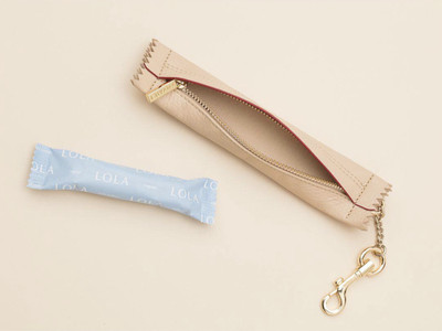 This $60 Pouch Fits Two (2) Tampons