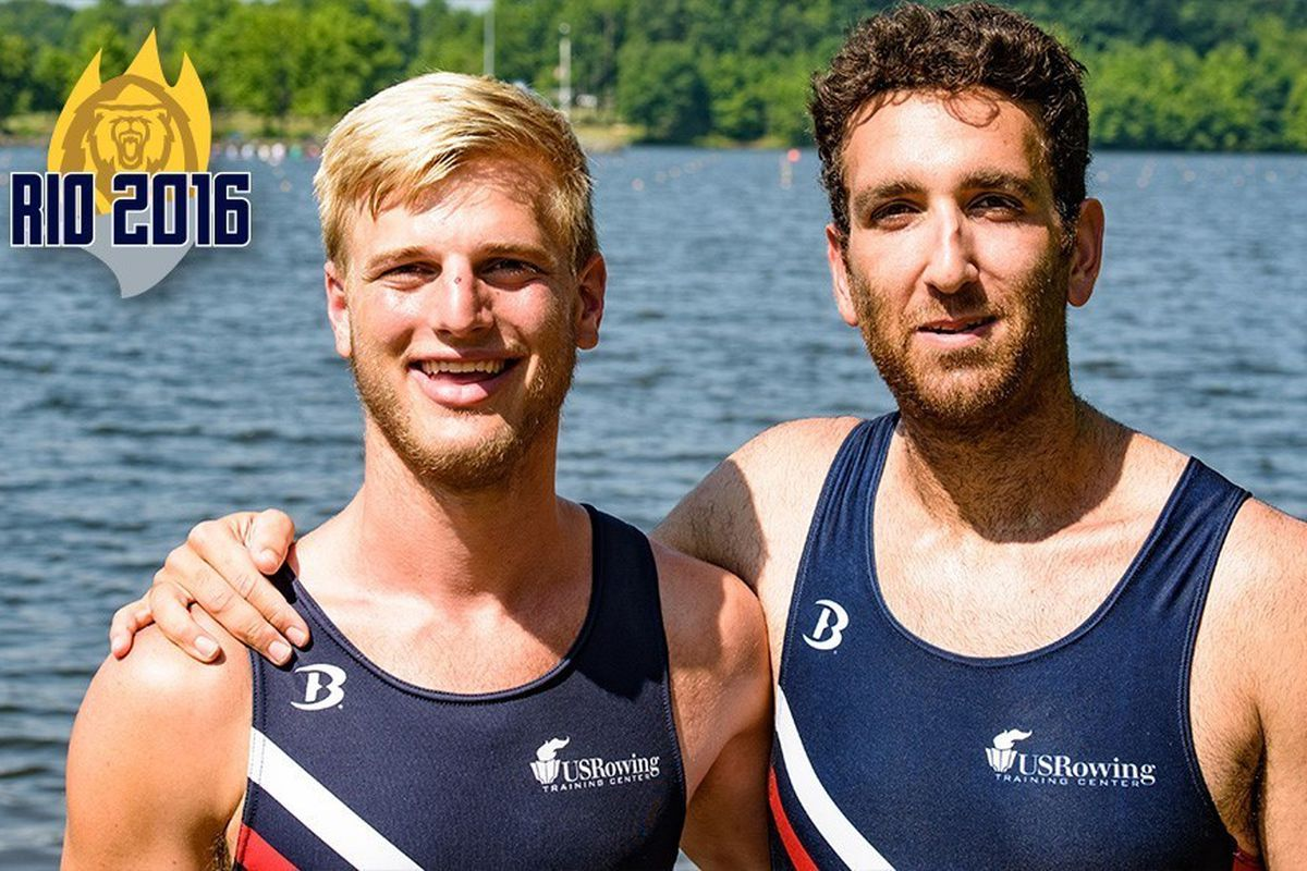 Cal Men's Crew alum Nareg Guregian (right) will be racing in the pairs competition in Rio with his Brown Bears alum partner Ander Weiss.