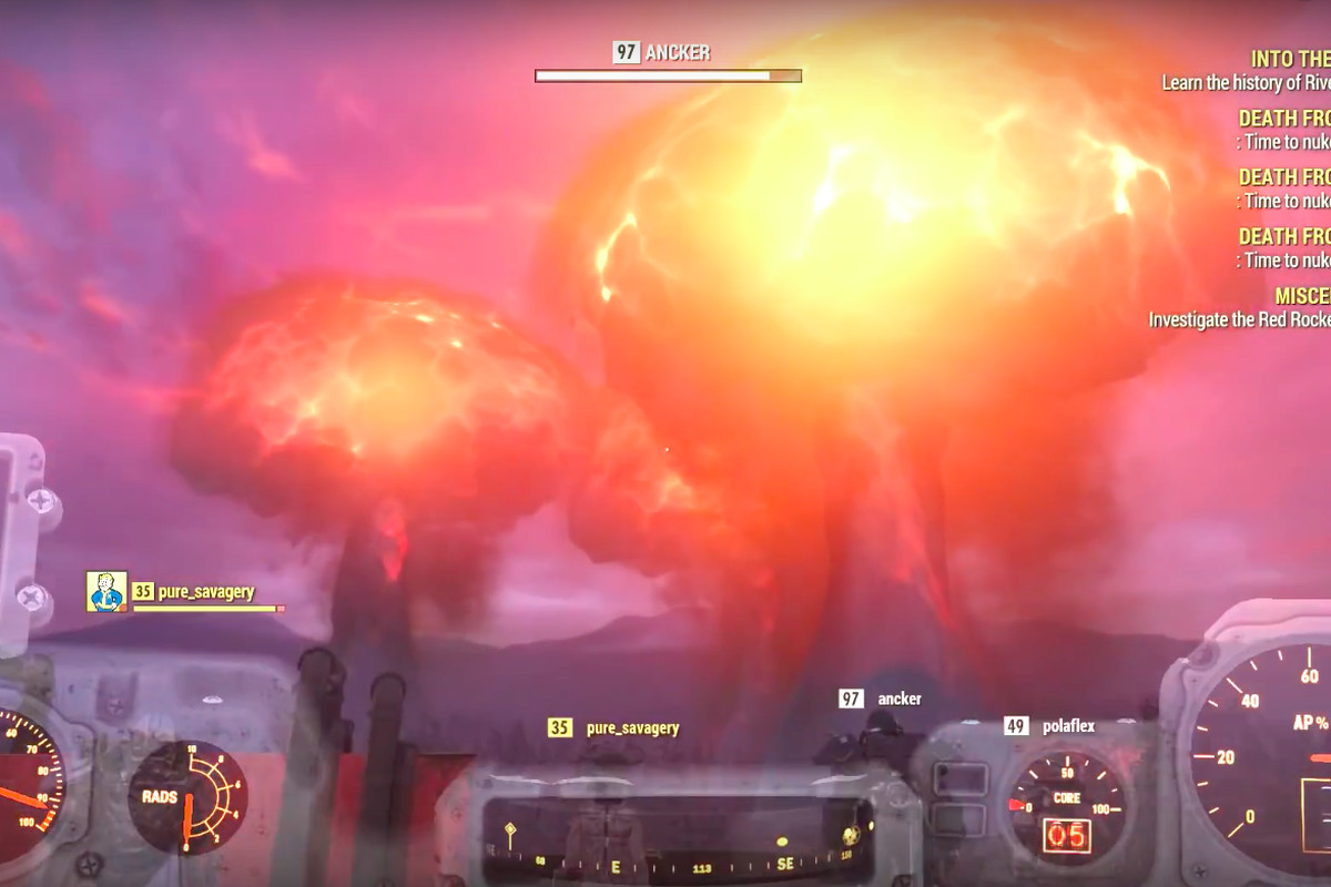 Fallout 76 players launched so many nukes at once that they