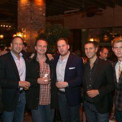 Paul Denamiel, Pat LaFrieda, Andrew Carmellini, Mark Pastore, Luke Ostrom, and friend