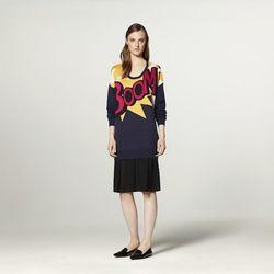 Sweater Dress in Boom Print, $44.99
