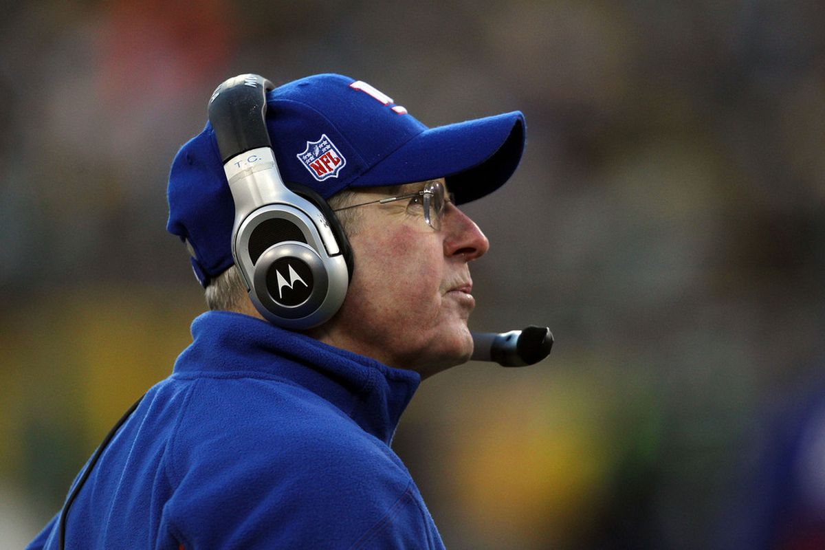 Head coach Tom Coughlin of the New York Giants.  (Photo by Jonathan Daniel/Getty Images)