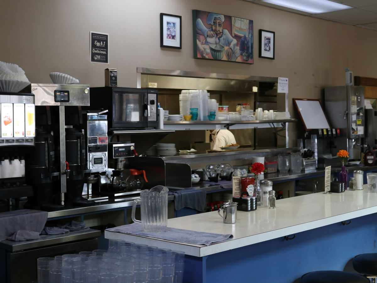 A service counter at a diner