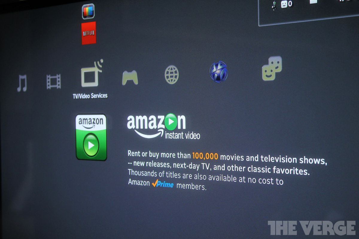 Sony Ps3 Gets Amazon Instant Video App Streams Purchased Movies And Prime Subscription Content The Verge