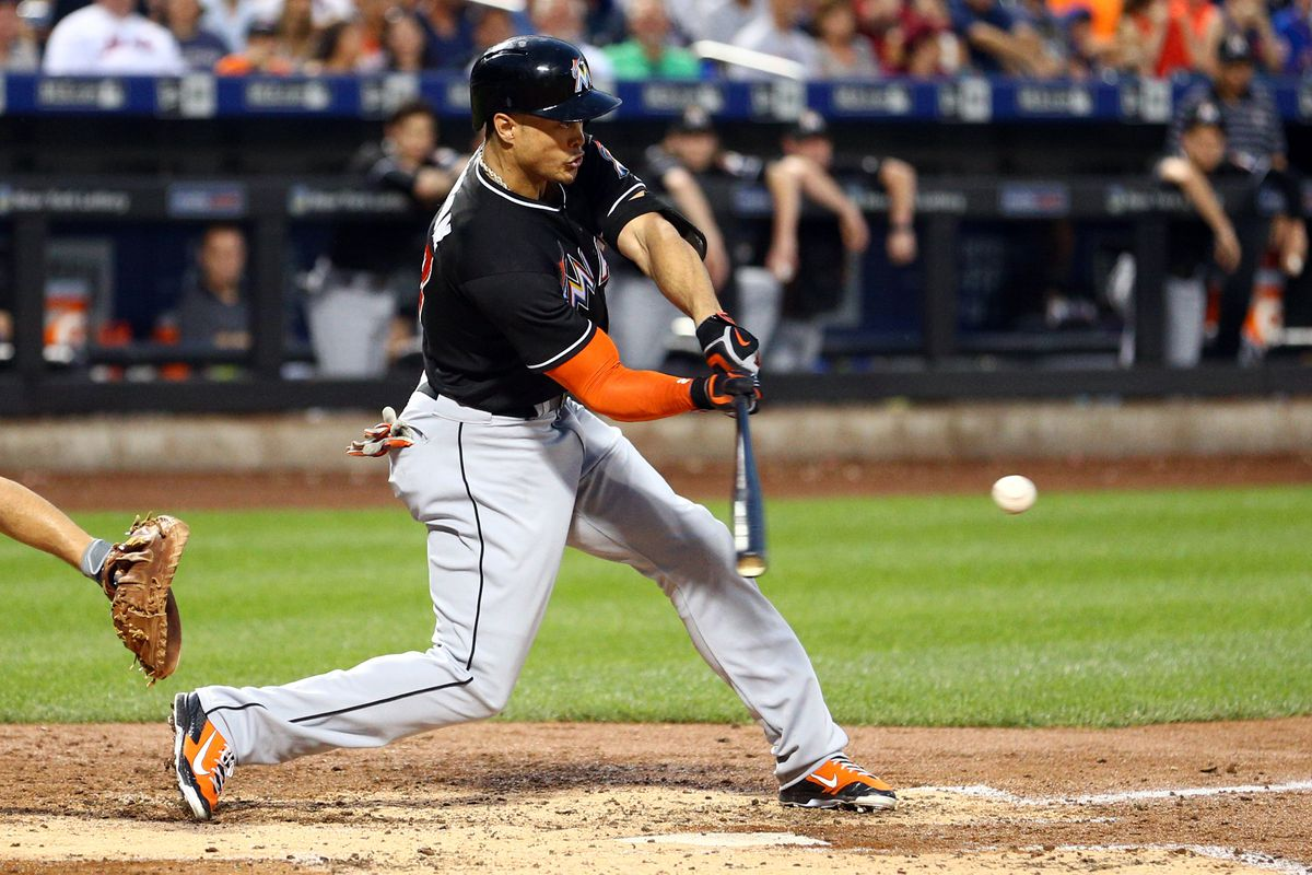 Stanton collected five RBI in Tuesday's win.